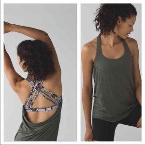 Lululemon Wild Tank in Gator Green